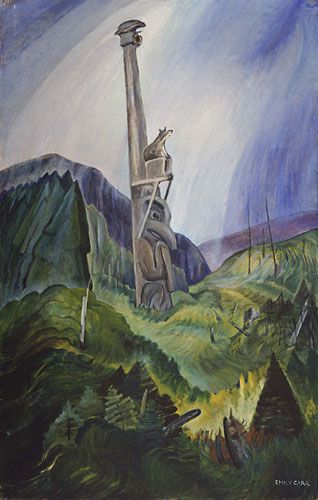 Forsaken, by Emily Carr, 1937. Oil in canvas | Vancouver Art Gallery