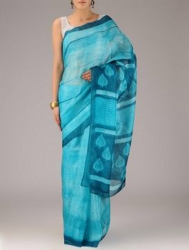 Buy Colors of Compassion by Mura Collective Shibori-Dyed Sarees in Silk and Zari Online at Jaypore.com
