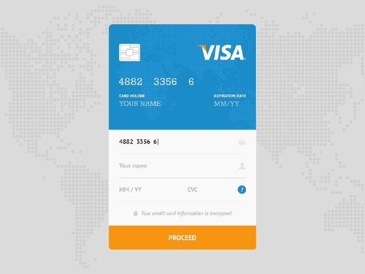 Olga Shapoval (a4bb5731) on Pinterest - credit card form
