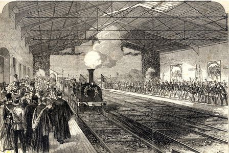 The opening of Falmouth Railway August 24th 1863