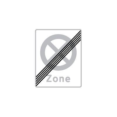 Ophør af zone med parkering forbudt E 69,1