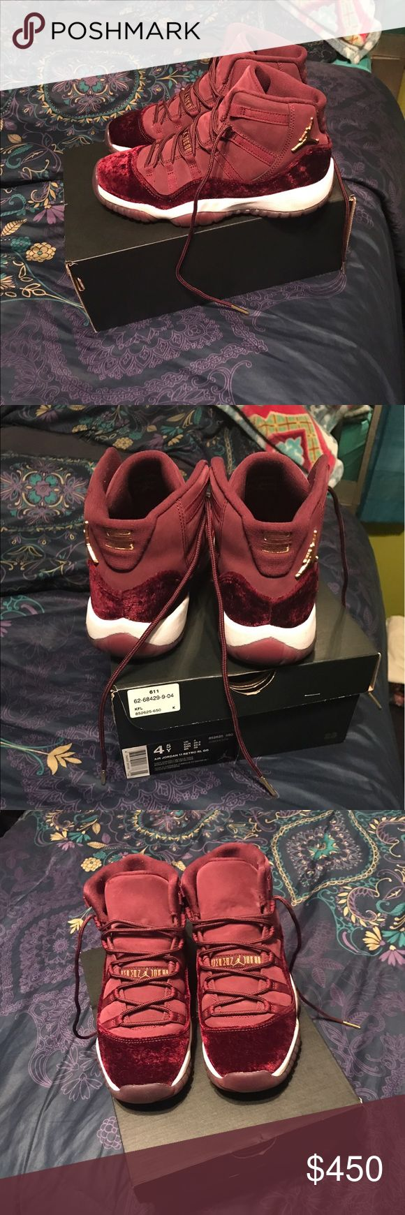 Air Jordan 11 Retro size. 4.5 Excellent Condition 100% Authentic Air Jordan 11 Retro RL GG size. 4.5 Big Kids. Worn twice still in New excellent condition. Retail Price for Jordan's $220. Comes with shoe box and receipt. Hard 2 Find.... These Are Exclusive & So Cute!!! Air Jordan Shoes Sneakers