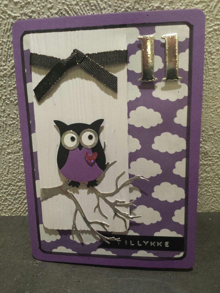 Fødselsdagskort lavet med owl punch