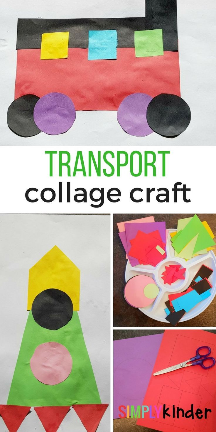 Transport Collage Craft | Teaching | Kindergarten art activities