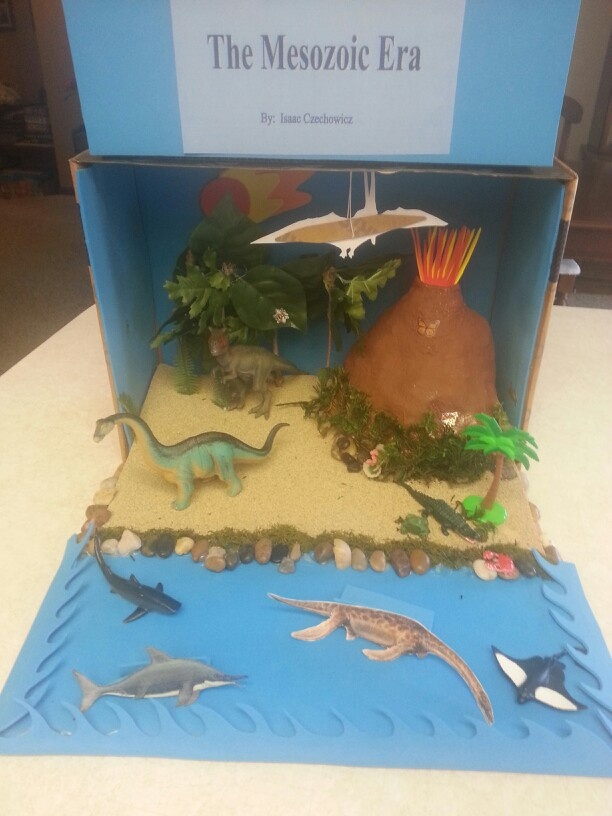Mesozoic Diorama Isaac Amp I Made For His Science Class