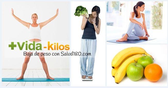 Baja de peso y recupera tu figura con Salud180.com
