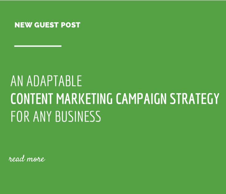 An Adaptable Content Marketing Campaign Strategy for Any Business