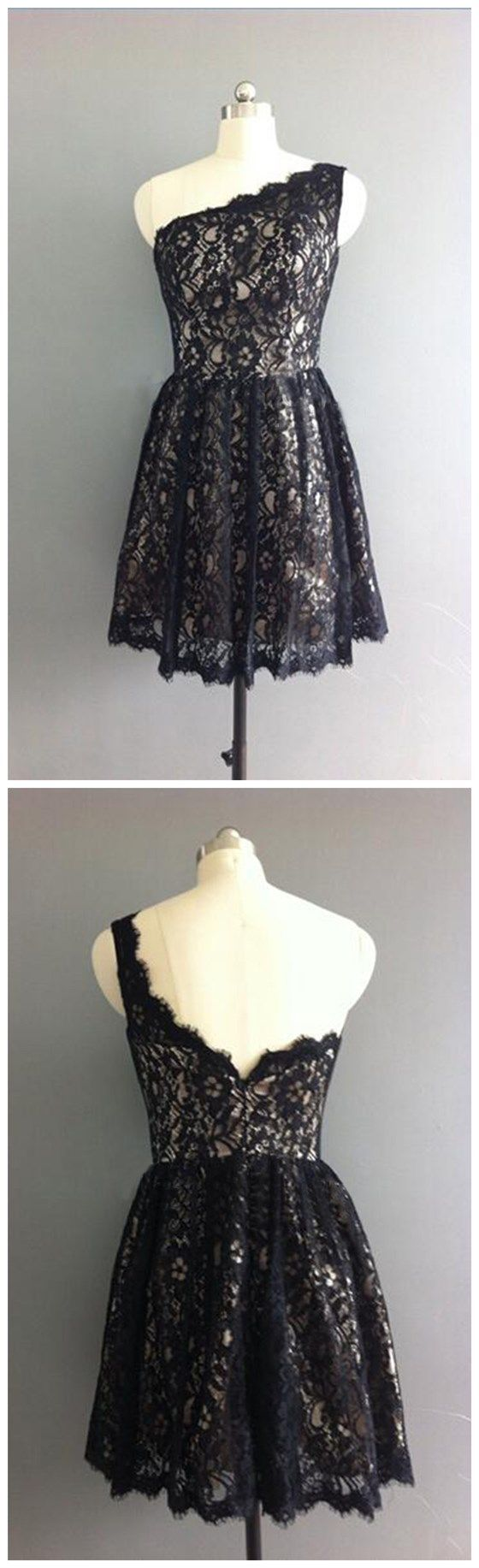 Lace Bridesmaid Dress, Black Brides