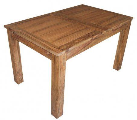 Massivholztisch ausziehbar aus Palisander - Esstisch massiv - 130 cm x 80 cm - ausziehbar auf 190 cm