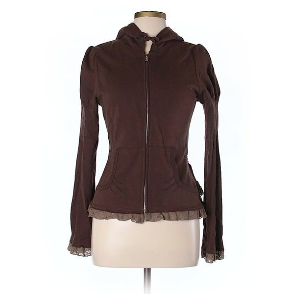 Mystree Zip Up Hoodie ($28) ❤ liked on Polyvore featuring tops, hoodies, brown, brown zip up hoodie, cotton hooded sweatshirt, red hooded sweatshirt, cotton hoodie and zip up hoodie