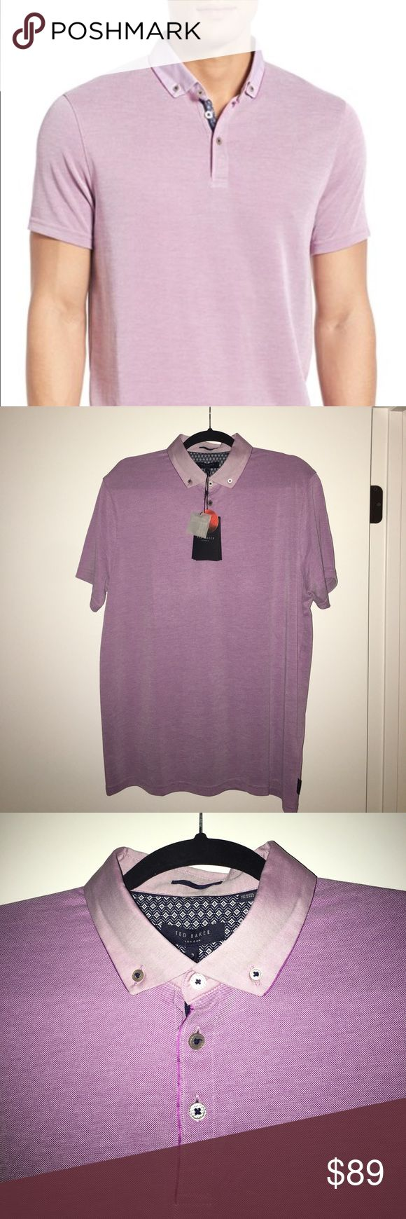 TED BAKER LONDON PURPLE POLO SHIRT size XL BRAND NEW with tags. Size 5 (XL). Considered Slim Fit Ted Baker London Shirts Polos