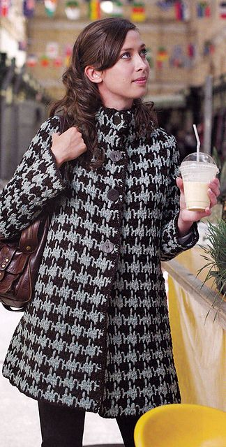 """Houndstooth Coat"" #crochet pattern by Melissa Horozewski, published in Inside Crochet Issue 10, October 2010. PDF pattern $3.99"