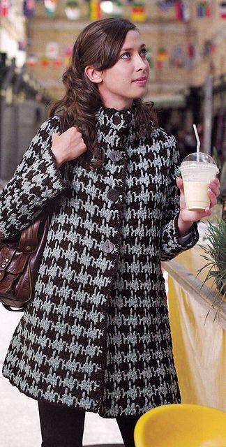 Houndstooth #crochet swing coat pattern.