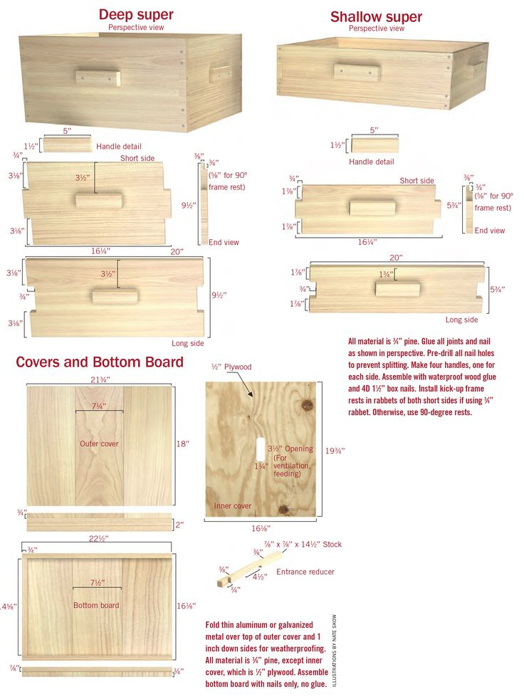 Build your own beehive woodworking projects plans for Beehive plans blueprints