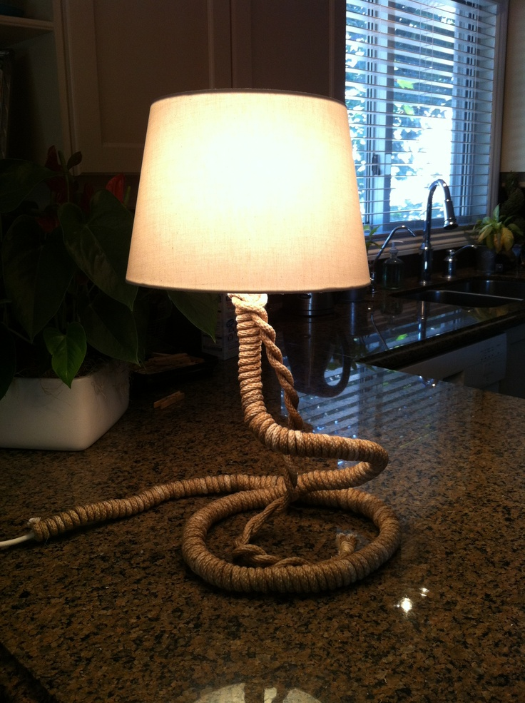1000 Images About Lamp Rope On Pinterest Nautical Rope