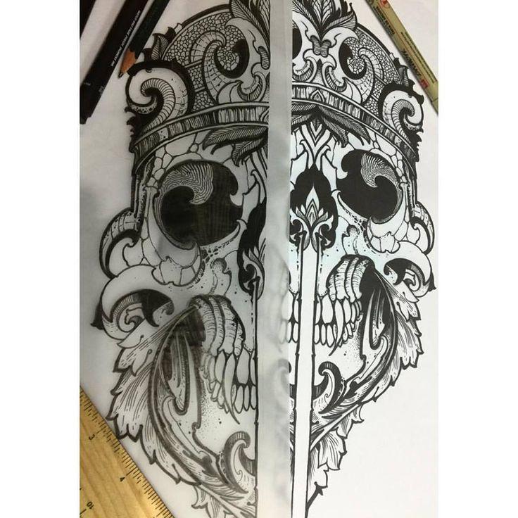 Geometric Skull design