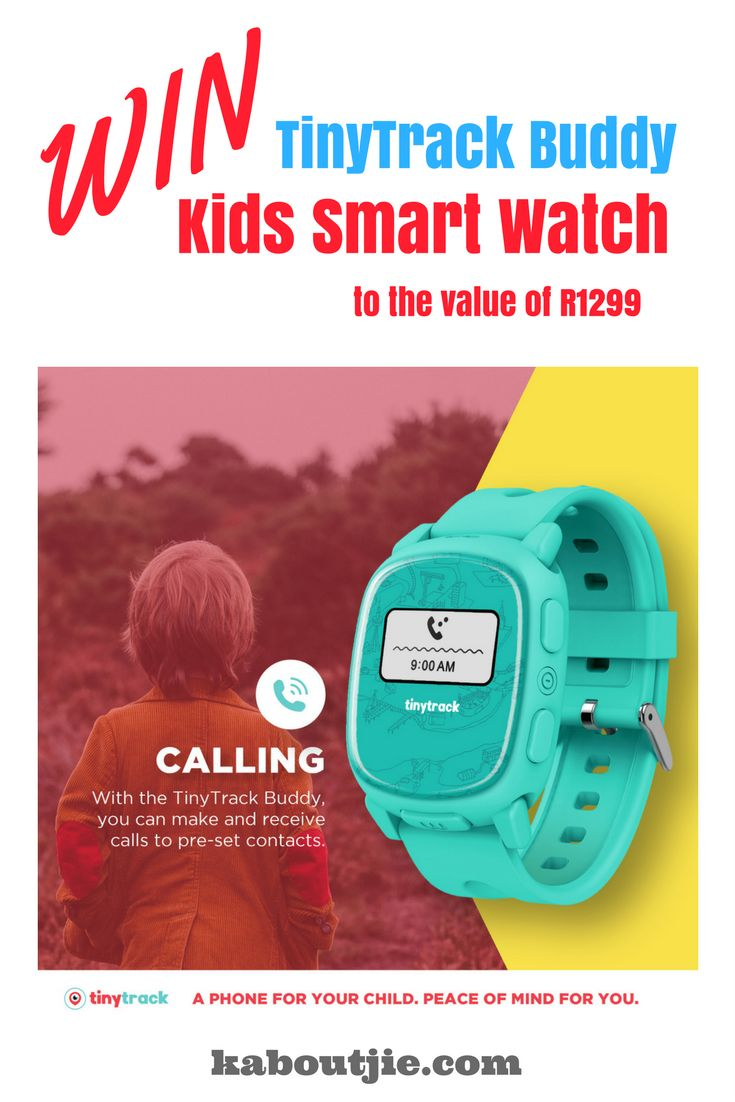 Win this TinyTrack Buddy smart watch for kids!   Entering is easy, just do this fun quiz!   #KidsSmartWatch #SmartWatchForKids #Win #Giveaway #Competition