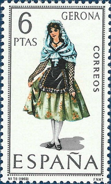 postage stamps from spain | P8 Buttons & Fabrics: Traditional Costumes : Postage Stamps Spain