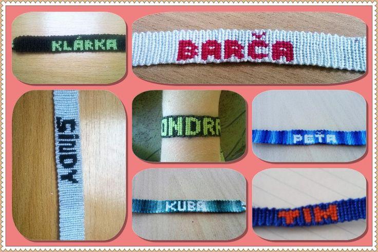 Friendship bracelet with name