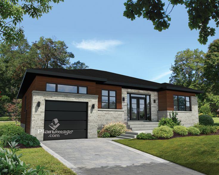 1000 id es sur le th me modele maison plain pied sur pinterest maison moderne plain pied. Black Bedroom Furniture Sets. Home Design Ideas