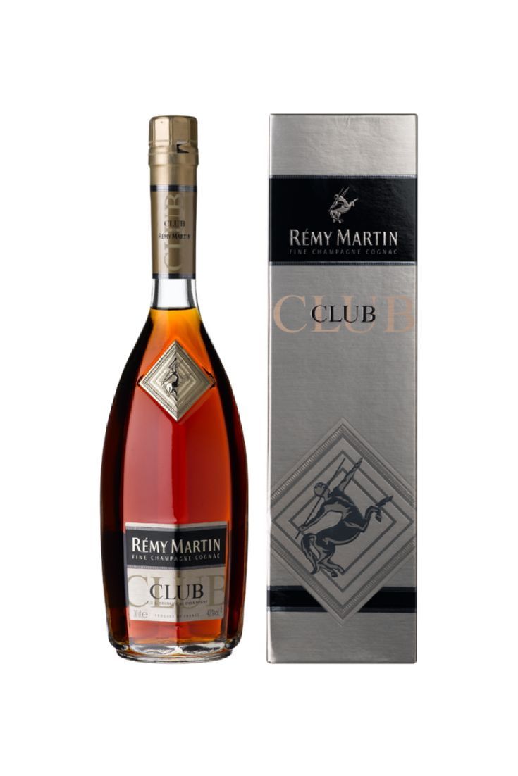 10% OFF for 6 or more bottles – automatically deducted at CHECKOUT Country of Origin: France Rémy Martin Club has intense and complex aromas due to the selection of very old Fine Champagne eaux-de-vie, between 5 and 25 years old.