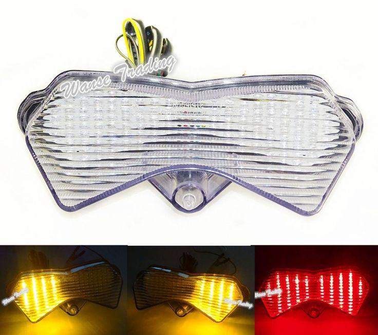 E-Marked Tail Turn Signals Integrated Led Light Lens Clear For KAWASAKI Z750 ZR750J 2004-2006 / Z1000 ZRT00A 2003 2004 2005 2006 #Affiliate