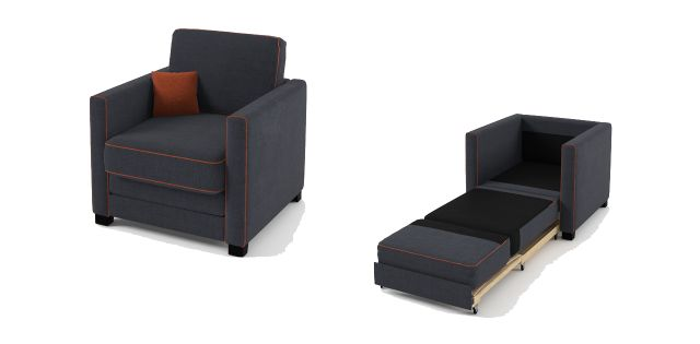Boom Chair Sofa Bed Blue Jeans Fabric