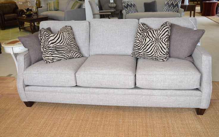 Flexsteel Sofa In A Great Medium Gray Sofas Chairs