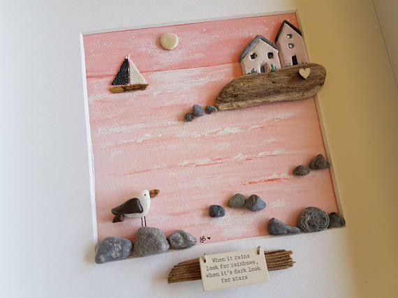 Pebble Sea Scene Pebble Picture Pebble Art Pebble