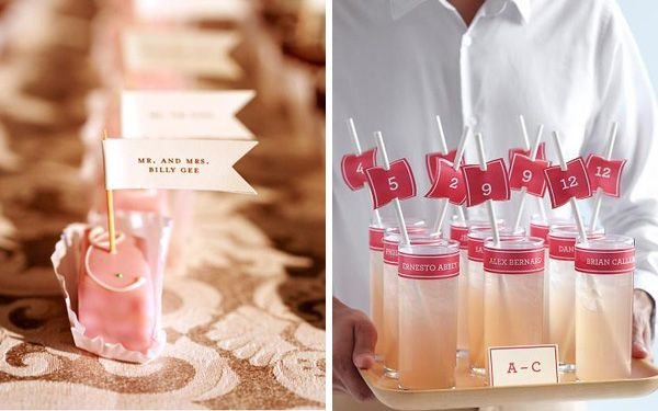 Wedding-ideas-seating12.jpg 600×375 pixels  Again, cute ideas for escort cards - could be escort card in champagne toast glass for later