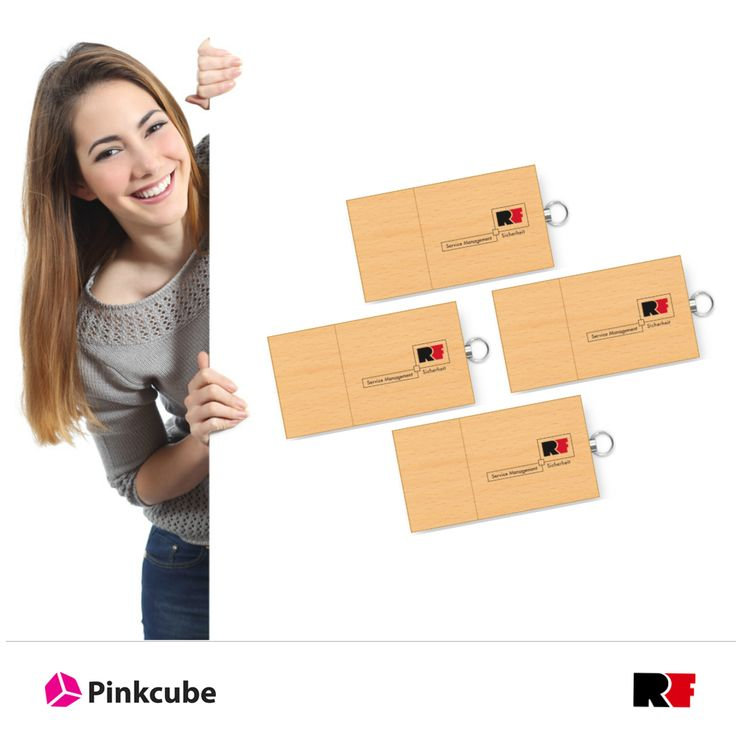 Wir lieferten einseitig bedruckte USB-Sticks aus Ahornholz an RF-Sicherheit. Beim Modell Eco Wood handelt es sich um einen USB Stick, der ein FSC zertifiziertes Gehäuse aus Ahornholz (helles bedrucktes Holz) hat. Das verwendete Holz kommt somit garantiert aus nachhaltig bewirtschafteten Waldflächen. Der Eco Wood ist ein nachhaltiger USB Stick mit einer Kappe die durch Magnete gehalten wird.   http://www.usbstickcenter.de/usb-stick-eco-wood