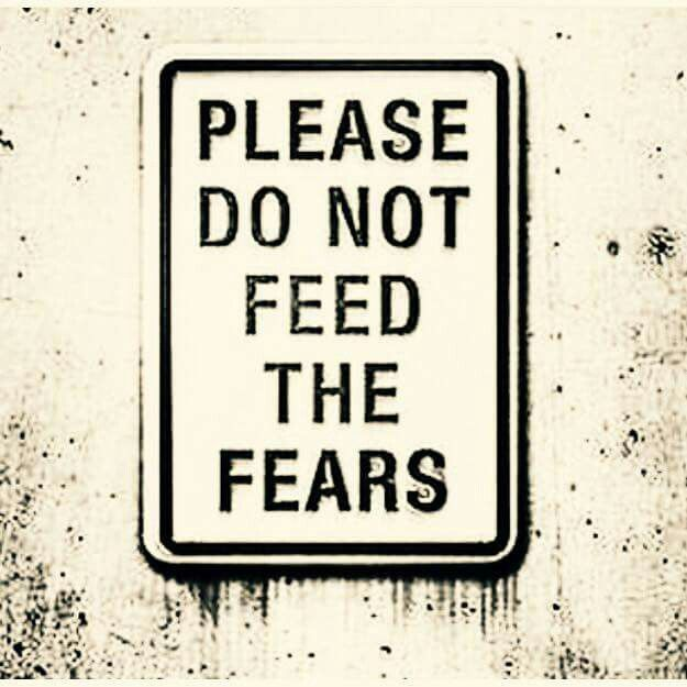 Please do not feed the fears and I needed to read this a long time ago.