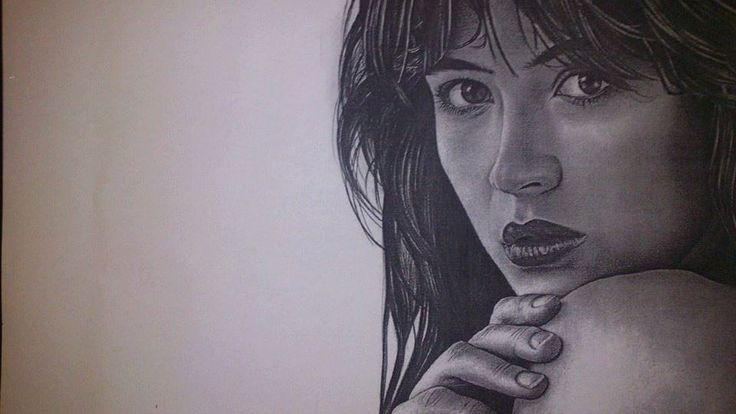 Sophie Marceau/Graphite/Drawing