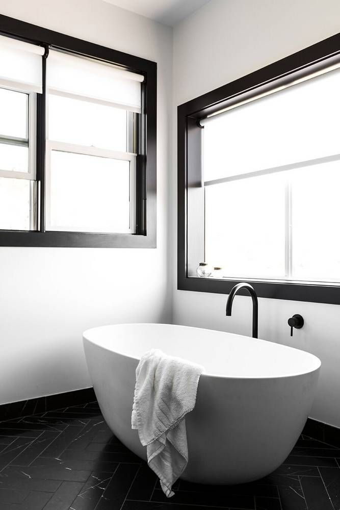 An Affordable Black and White and Modern Home Decor Renovation: Modern Bathroom