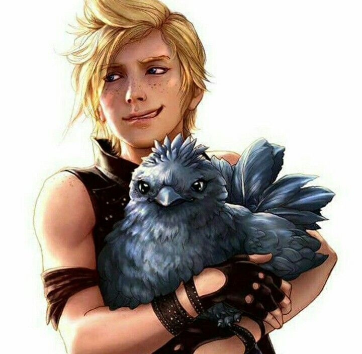 Prompto ~ aw it's the Noctis chocobo #playstationgames