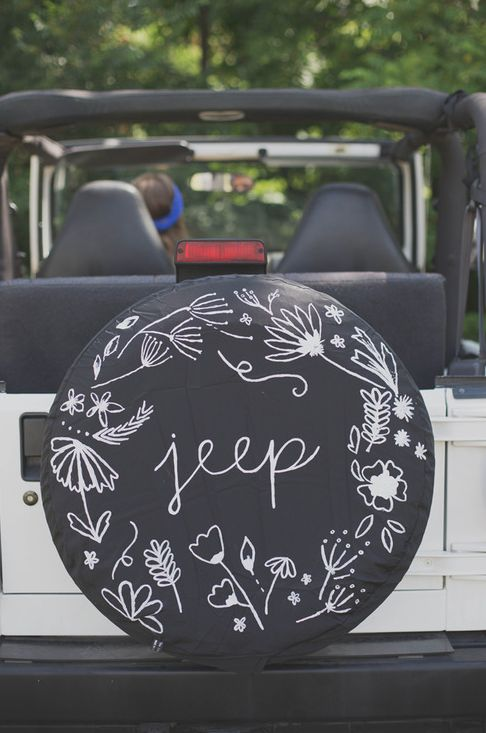 Always Rooney: Jeep Tire Cover Restyle. Keep in mind for when I finally get the wrangler I've always wanted...