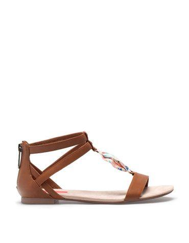 Bershka Slovakia - BSK scarf detail sandals