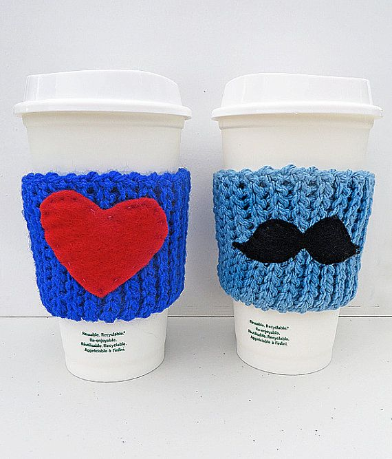 Coffee/Tea Sleeve with Applique by LilyBedilly on Etsy www.facebook.com/lilybedilly