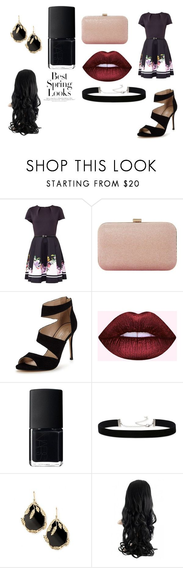 """spring look 2021"" by suzy-782 on Polyvore featuring Ted Baker, Dune, Carvela, NARS Cosmetics, 2028, Aurélie Bidermann and H&M"