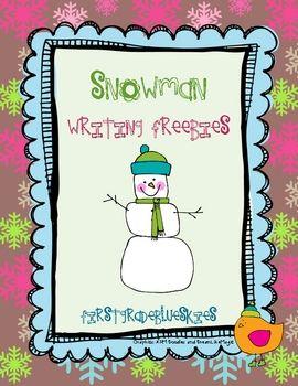 Snowman Writing unit- free