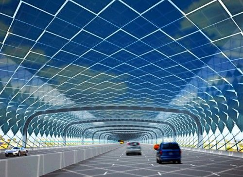 """Take a look at the concept of solar-powered highways. Replacing all of the asph…"