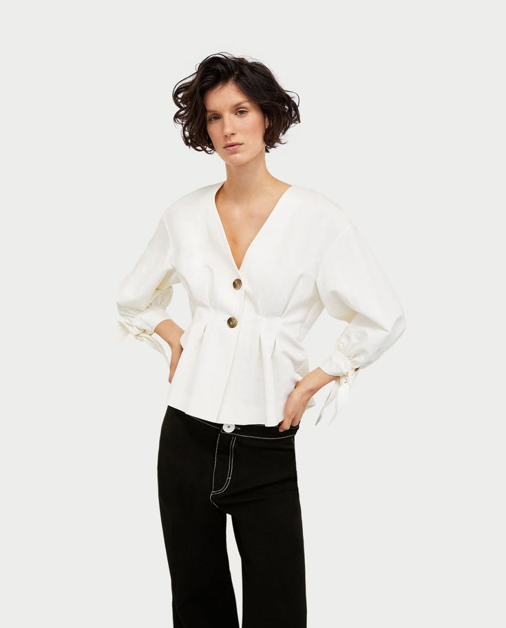 Image 4 of PLEATED TOP from Zara