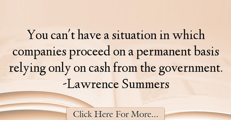 Lawrence Summers Quotes About Government - 30512