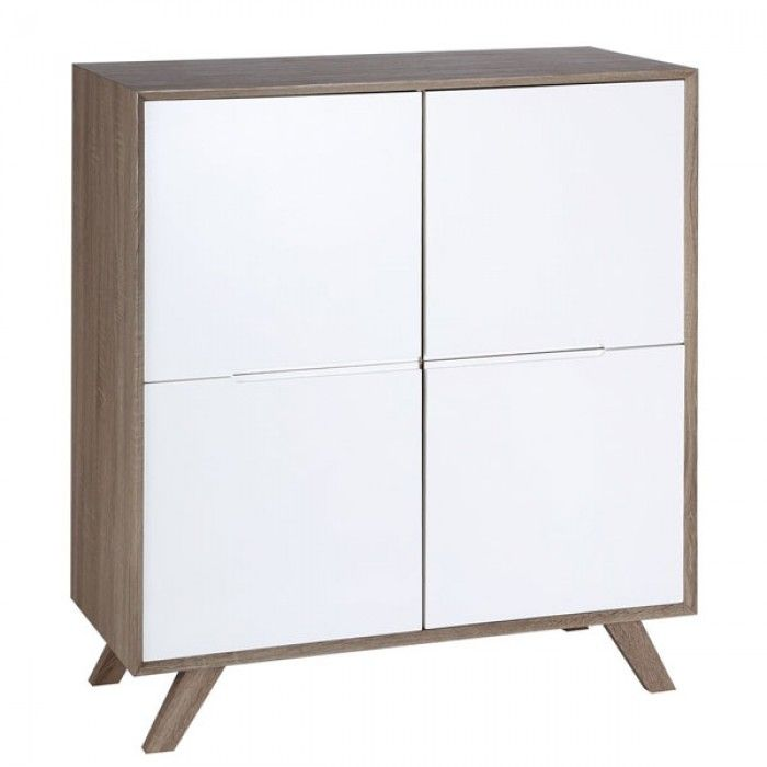 Comprar Mueble Nórdico Aparador Alto Aalborg Natural Blanco IX67121 en Nuryba.com ✓Envio Gratis ✓Mejor Precio ✓Compra Segura ✓14 Dias Devolucion