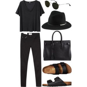 this is so cute! looks like I need black birkenstocks, or I'll just wear all black with brown stocks