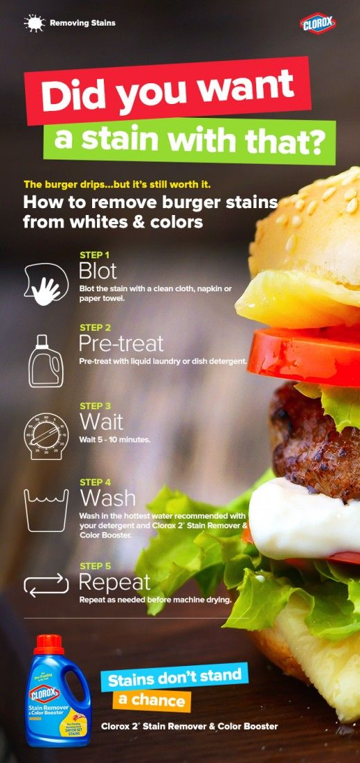 So worth it. Learn how to get out burger grease stains here →