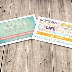 Let your card do the talking! #doterra #doterracards #doterrabusinesscards #essentialoils #essentialoilprint #essentialoil #businesscard #designs #eoprint #essentialoilprint