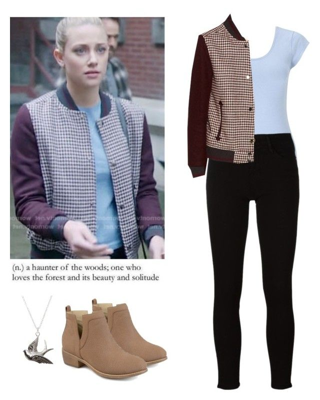 """Betty Cooper - Riverdale"" by shadyannon ❤ liked on Polyvore featuring Miss Selfridge, Frame and Journee Collection"