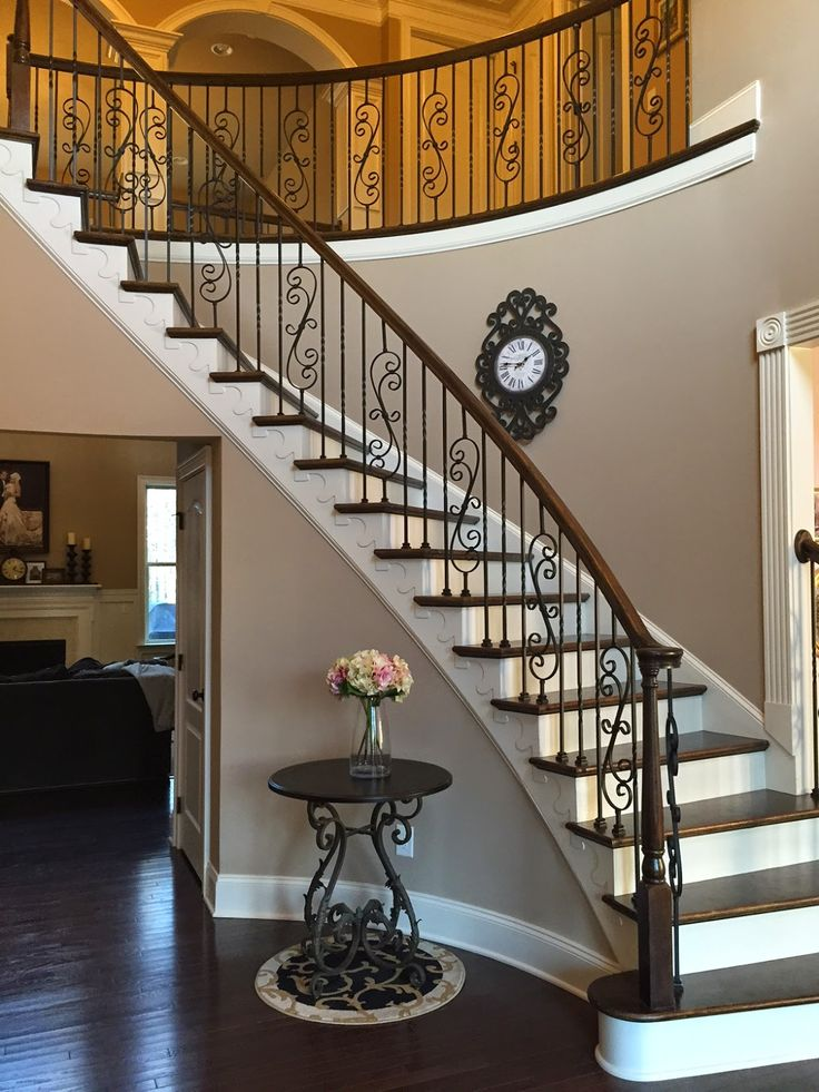 Life in the Barbie Dream House: Scroll Iron Baluster Staircase Upgrade!