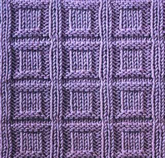 Button In A Square - Stitch Sample